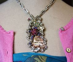 """Spring Fairy Love Necklace - one of a kind """"Every Saint has a past, every sinner has a future""""  love it"""