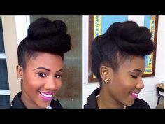 Twisted Pompadour | Roll, Tuck & Pin Updo on Natural Hair - YouTube