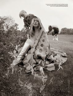 """""""Wizard"""" by Tim Walker for Love Magazine, Autumn/Winter 2014. Styled by Katie Grand. Models: Kate Moss and Harry"""