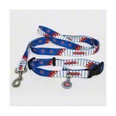 Chicago Cubs Dog Collar & Leash Set $26.99 http://www.fansedge.com/Chicago-Cubs-Dog-Collar-Leash-Set-_-1229744991_PD.html?social=pinterest_pfid47-06210