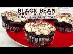 These healthy Black Bean Chocolate Fudge Muffins with Vanilla Frosting have no flour, eggs or butter and are 100% plant based. The recipe is very simple and even if you're not good at baking, like me, it's hard to go wrong with making these. If you are testing these out on others don't tell them …