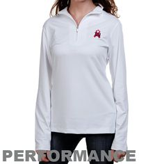 New York Giants Ladies White Breast Cancer Awareness Choice Performance  Half Zip Long Sleeve Performance Top ef90c52e9