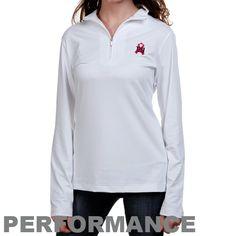 New York Giants Ladies White Breast Cancer Awareness Choice Performance Half Zip Long Sleeve Performance Top