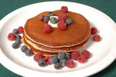Gluten-Free Rice Buttermilk Pancakes from CDKitchen.com