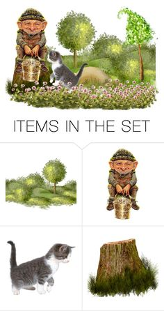 """""""That's Me Gold You Blighter"""" by sjlew ❤ liked on Polyvore featuring art"""