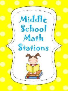 Middle School Math Stations Bundle - Lindsay Perro - TeachersPayTeachers.com
