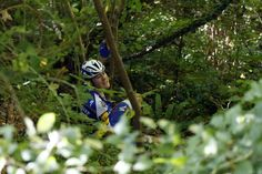 Laurens de Plus after crashing into a ravine at Il Lombardia