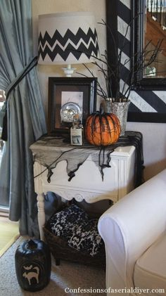 Anything uneasy is acceptable in October. This blogger made a jagged, chevron lamp shade, which will still be cute when the month is over. Get the tutorial at Confessions of a Serial Do-It-Yourselfer »