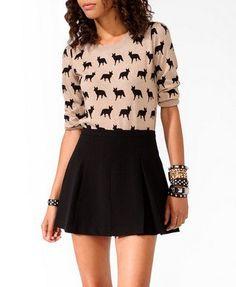 sofiesof's save of Ditsy Fox Sweater on Wanelo
