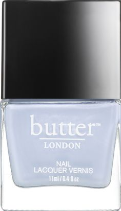 butter LONDON Kip Nail Lacquer | opaque, skycloud shimmer.