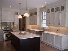 Calacatta quartz surface for modern kitchen design