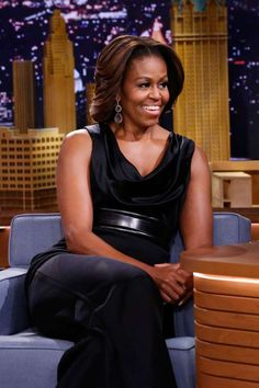 <p><strong>When:</strong> February 2014</p><p><strong>Where:</strong> The Tonight Show with Jimmy Fallon</p><p><strong>Wearing:</strong> A black jumpsuit by St John</p>