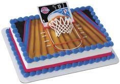 preegle.com - NBA Slam Dunk Detroit Piston Cake Topper