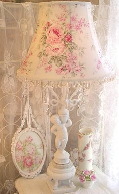 #shabby #chic cottage #lamp #shade .Custom orders at www.shabbyshades.com
