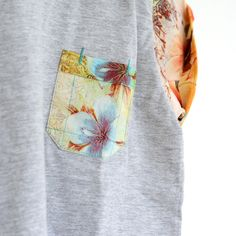 Flower Palm Grey Tee www.ohmay.nl