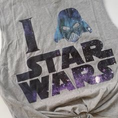 Women's Star Wars tie-front tank top