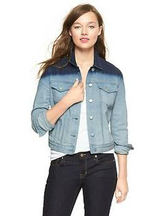 dip-dye #tall denim jacket