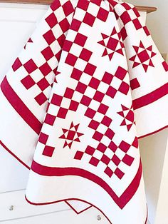 Red and White Quilt Patterns PDF Star Quilt Patterns Christmas Quilt Pattern Summer Quilt Pattern Irish Chain Quilt Picnic Blanket Download