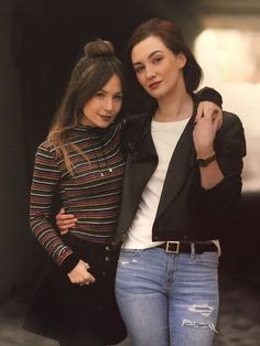 Cute Lesbian Couples, Lesbian Love, Lgbt, Kat Barrell, Katherine Barrell, Waverly Earp, Dominique Provost Chalkley, Waverly And Nicole, Girl Couple