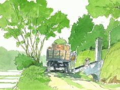 Character Illustration, Digital Illustration, Studio Ghibli Art, Landscape Concept, Hayao Miyazaki, Girls Anime, Ghibli Movies, Environment Concept Art, Japan Art