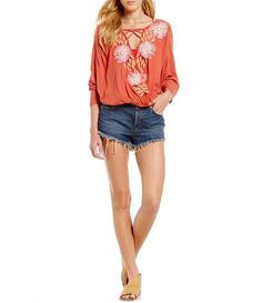 Free People Gotta Love It Embroidered Blouse