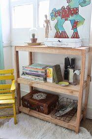 Nuevo tamaño de estantería / biblioteca baja.    Fabricadas con tablas macizas de   madera saligna.   La madera está sin cepillar y con ...