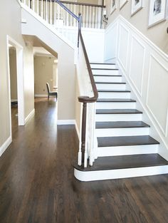Hardwood floor refinishing is an affordable way to spruce up your space without a full replacement. Learn if refinishing hardwood floors is for you. Hardwood Floor Stain Colors, Rustic Hardwood Floors, Living Room Hardwood Floors, Hardwood Stairs, Refinishing Hardwood Floors, Engineered Hardwood Flooring, Plank Flooring, Hardwood In Kitchen, Dark Hardwood