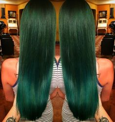 Forest Green and Emerald hair color created with Joico Intensity and Olaplex.