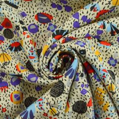 Superb viscose dress fabric in an abstract print, the possibilities for this are never-ending, the pattern & colours lend themselves to. 1950s Fashion Dresses, Viscose Dress, Vintage Dress Patterns, Abstract Print, Old And New, Colours, Fabric, Style, Crafts