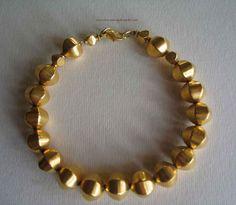 Bracelet en Vermeil Or 18ct sur Argent 925. Vermeil Necklace Punched 925- Or 18K | eBay