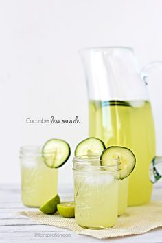 "Cucumber Lemonade Recipe.  I imagine it also would be quite tasty if made into a more ""adult"" drink using rum or vodka."