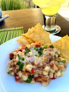 Green Chili Corn Dip ~ The Complete Savorist
