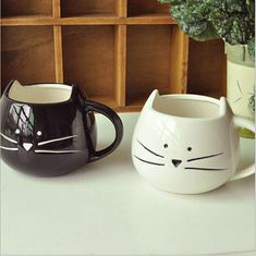 2014 New Zakka Lotion Coffee Tea Cup Black And White Cat Animal Milk Ceramic Lovers Drink  Mug Cute Drinkware Creative Gifts-in Mugs from Home & Garden on Aliexpress.com | Alibaba Group