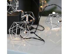 EDGE - Girlanda świecąca Metal Srebrny 10 LED Dł.5,25m