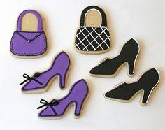 Mini purple and black - shoe cookies