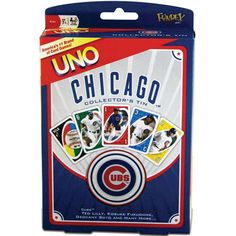 Chicago Cubs UNO: UNO is one of America's most popular card games. This MLB Chicago Cubs Edition of the UNO card game features Cubs team colors, logos and Uno Card Game, Card Games, Cubs Cards, Chicago Cubs Fans, Cubs Team, Cubs Win, Go Cubs Go, Bear Cubs, Bears