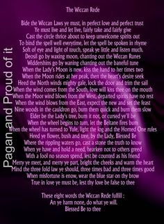 The full version of the Wiccan Rede.