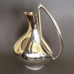 "Gallery 925 - Georg Jensen ""Pregnant Duck"" Pitcher by Henning Koppel, No. 992. Handmade Sterling Silver."