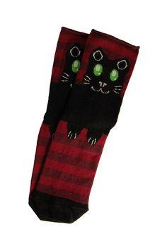 Cat Designs On Socks | ... socksupermarket Cat Design - Novelty - Ladies Socks | Socksupermarket