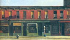 Early Sunday Morning - Edward Hopper  Love me some Hopper! Thinking of you GW Gage!