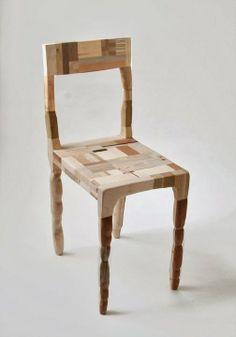 Amy Hunting. Patchwork collection collection de mobilier et accessoires entièrement composée de chutes de bois…