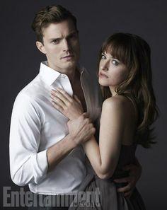 """""""No te muerdas el labio, Anastasia""""  Jamie y Dakota como Christian y Anastasia"""