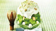 パブロに抹茶チーズタルトのかき氷 登場--エスプーマチーズクリームのとろける舌触り