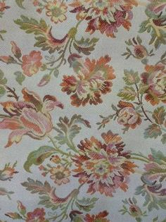 Floral print multi color upholstery fabric, with parrot tulips (3 yards) on the bolt.