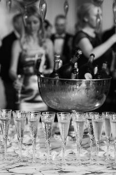 Glasses and ice bucket of champagne - unusual wedding venues UK - artistic alternative Aynhoe Park wedding photography © Babb Photo