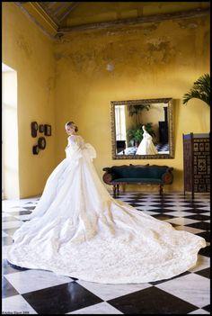 Lauren Santo Domingo - the train on this dress is just insane