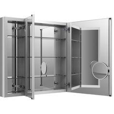 KOHLER Verdera 40-in x 30-in Rectangle Surface/Recessed Mirrored Aluminum Medicine Cabinet