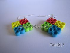 Handmade Jewelry - Paper Quilling Four Square Earrings (FAH217) (3)