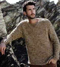 Men's sweater in Rowan Tetra Cotton