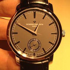 VACHERON CONSTANTIN'S stunning new patrimony gray dial dress watch.